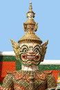 Statue at the Grand Palace, Bangkok (Close-up) Royalty Free Stock Photo