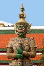 Statue at the grand palace bangkok image of a of Royalty Free Stock Image