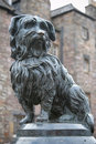 Statue of Greyfriars Bobby, a famous Terrier Stock Photo