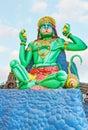 The statue of Hanuman