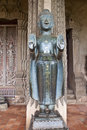 Statue at haw pha kaew temple in vientiane laos Stock Photo