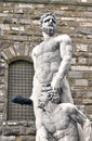 Statue of hercules and cacus in florence firenze italy Royalty Free Stock Photos