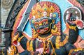 Statue of hindu deity shiva in the form fearful bhairab on durbar square in kathmandu nepal Royalty Free Stock Photography