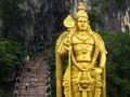 Statue of Hindu God Murugan at Batu Caves, Kuala Lumpur, Malaysia Royalty Free Stock Photo