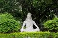Statue of Hindu Lord Shiva under the tree, Rishikesh. India Royalty Free Stock Photo