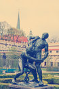 Statue in the historical center of Prague Royalty Free Stock Photo