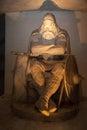 Statue of holger in kronberg castle the denish king sleeping until he is needed again kronborg denmark Stock Photo