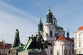 Statue of Jan Hus. Old Town Square, Prague Royalty Free Stock Photo