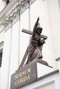 Statue of Jesus Christ Bearing His Cross. Grodno, Belarus Royalty Free Stock Photo
