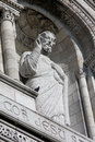 Statue of jesus at the sacre coeur basilica in paris france Royalty Free Stock Photos