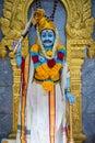 Statue of Karuppu Swamy in Sri Veeramakaliamman Temple in Singapore Royalty Free Stock Photo