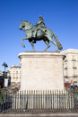 Statue of King Charles III in Madrid Royalty Free Stock Photo