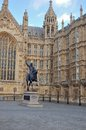 Statue of King Richard 1, house of parliament Royalty Free Stock Photo