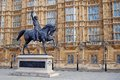 Statue of King Richard 1 - London Royalty Free Stock Photo