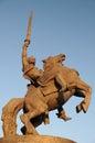 Statue of king Svatopluk in front