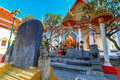 A statue of king taksin in wat intharam wat bang yi ruea nok the old uposatha thonburi bangkok thailand Stock Photos
