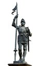 Statue of a Knight in armour. Royalty Free Stock Images