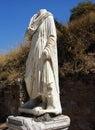 Statue in Kuretes Street in Celsus in Ephesus,Turkey