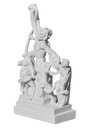Statue of Laocoon and his Sons on a white background Royalty Free Stock Photo