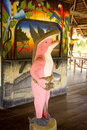 Statue of legend pink dolphin Royalty Free Stock Photo