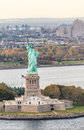 Statue of Liberty aerial view, NYC Royalty Free Stock Photo