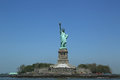 The statue of liberty closed for repair after hurricane sandy damage new york may on may will be reopen to Royalty Free Stock Photography