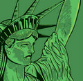 Statue of Liberty face detail Stock Photography