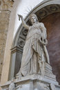 Statue of Liberty by Fedi in Basilica Santa Croce, Florence Royalty Free Stock Photo