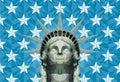 Statue Of Liberty In Geometric...