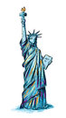 Statue of liberty hand drawn illustration Stock Photo