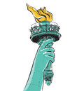 Statue of Liberty holding a torch Royalty Free Stock Photo