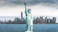 The statue of Liberty, Landmarks of New York City Royalty Free Stock Photo