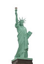 Statue of liberty model the on a white background Stock Images