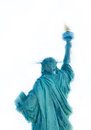 Statue of Liberty in New York City, back view, isolated on white Royalty Free Stock Photo