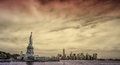 Statue Of Liberty With New Yor...