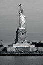 Statue of liberty new york harbor oct visitors at the on oct following the september attacks the and island were Stock Image
