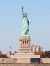 Statue of liberty in new york view from the hudson river Royalty Free Stock Photos