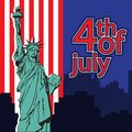 Statue of liberty, NYC, USA symbol, USA flag, fourth of july Independence day