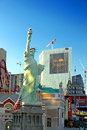 Statue of liberty replica las vegas usa august the new york new york hotel and casino in on tropicana avenue and boulevard Royalty Free Stock Photography