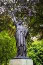 Statue of liberty replica paris luxembourg garden Stock Image