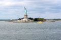 Statue of liberty sculpture on liberty island in the middle of enlightening world a colossal neoclassical new york Stock Images