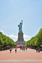 Statue of Liberty seen from Behind Royalty Free Stock Photo