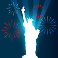 Statue of liberty shullouette vector design Stock Images