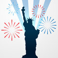 Statue of liberty shullouette vector shillouette Royalty Free Stock Photos