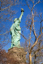 Statue of Liberty. Three quarter view from behind. New York City. Royalty Free Stock Photo