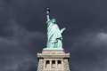 Statue of liberty thunderstorm an upshot the with Royalty Free Stock Photos