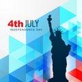Statue of liberty vector shillouette design Stock Image