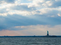 Statue of liberty view the in the harbor nyc Royalty Free Stock Images
