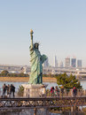 Statue of Liberty on the waterfront of Tokyo, Japan Royalty Free Stock Photo