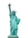 The Statue of Liberty on white background Royalty Free Stock Photo